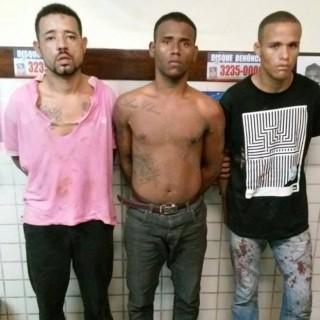 trio de assaltantes preso no bairro parque verde 1