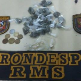 Material apreendido pela Rondesp RMS