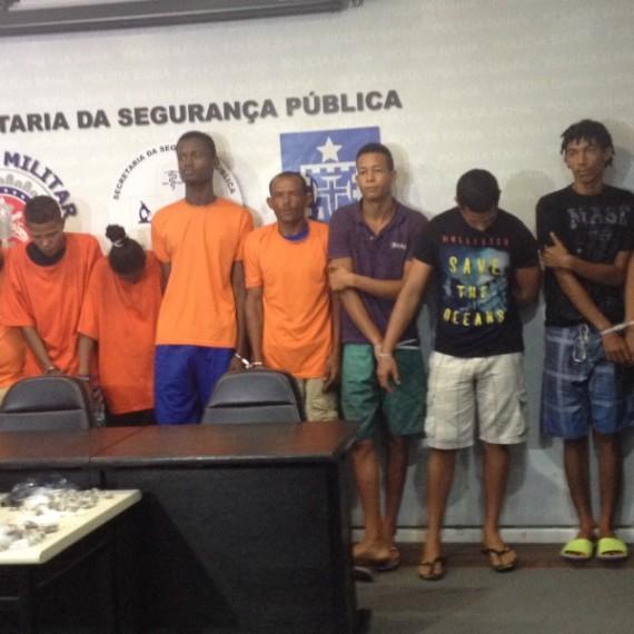 bandidos prsos em camaçari apresentados em ssp
