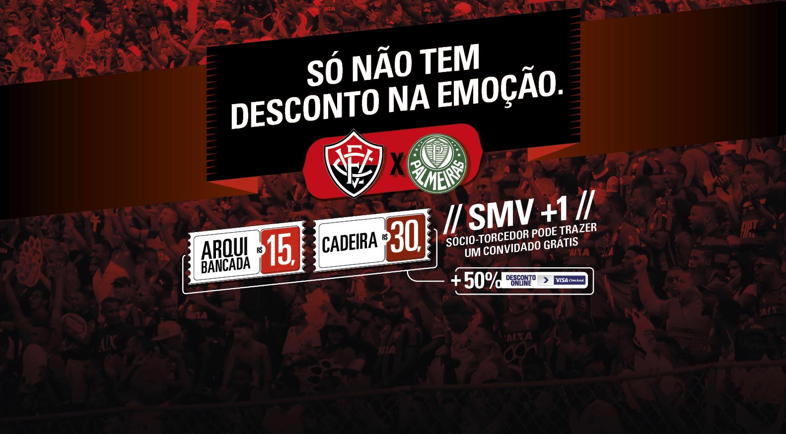 Com valores reduzidos, Vitória inicia venda de ingressos para jogo contra o Palmeiras