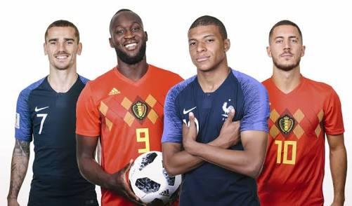 Jogão: França e Bélgica duelam pela primeira vaga na final do Mundial da Rússia