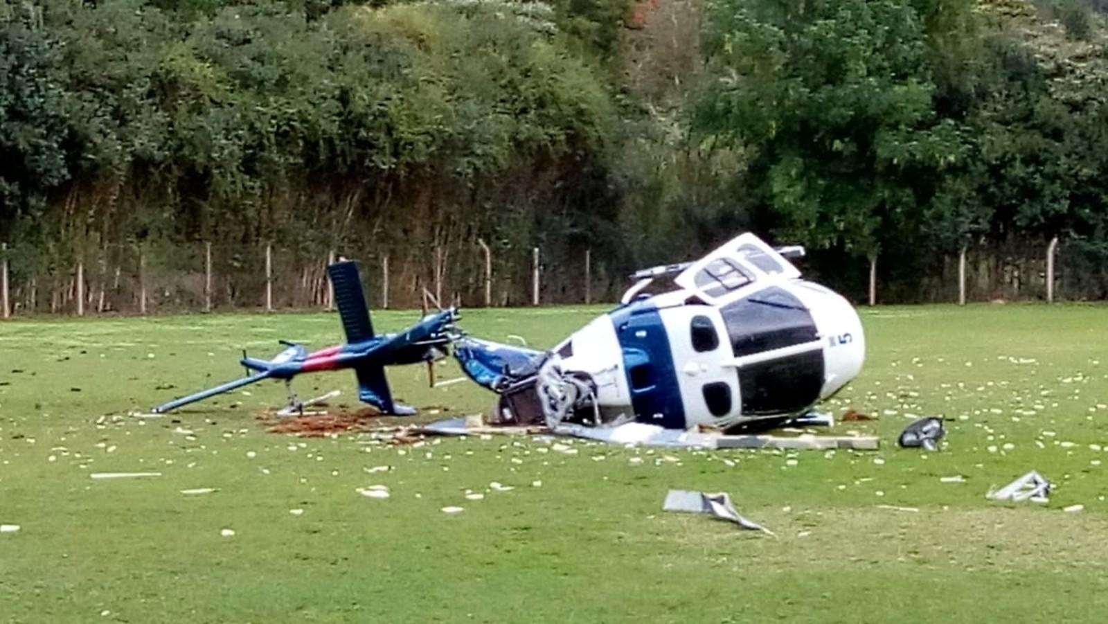 Helicóptero da PM com o governador do ES cai em Domingos Martins
