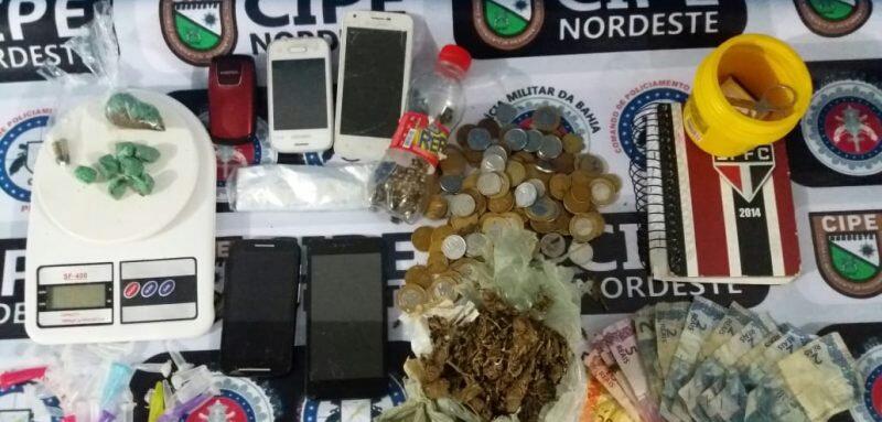 Mulheres são presas com drogas e mais de mil reais em dinheiro pela Cipe Nordeste