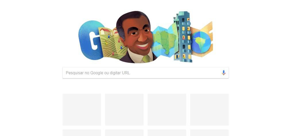 Geógrafo Milton Santos é homenageado pelo Google