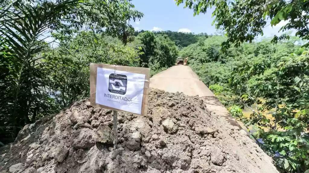 Defesa Civil interdita ponte do Rio Jacuípe
