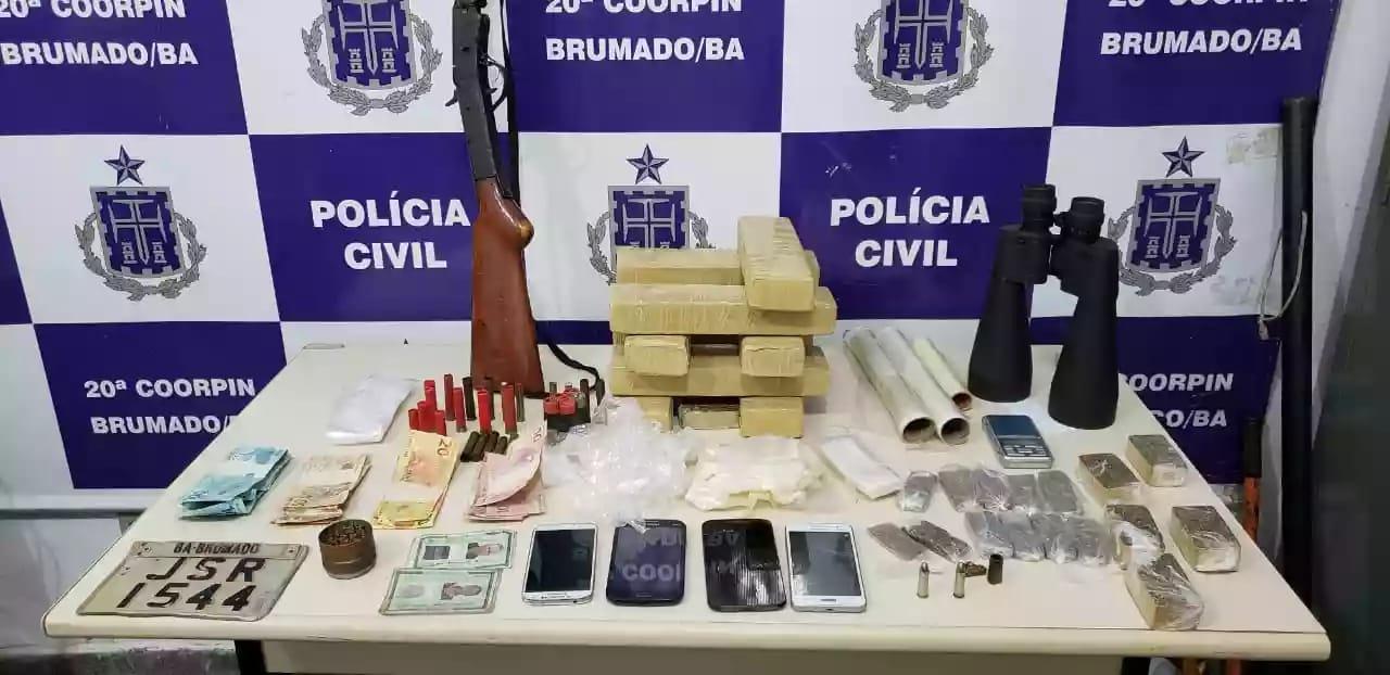 Polícia Civil encontra 8kg de maconha escondidos dentro de um cofre