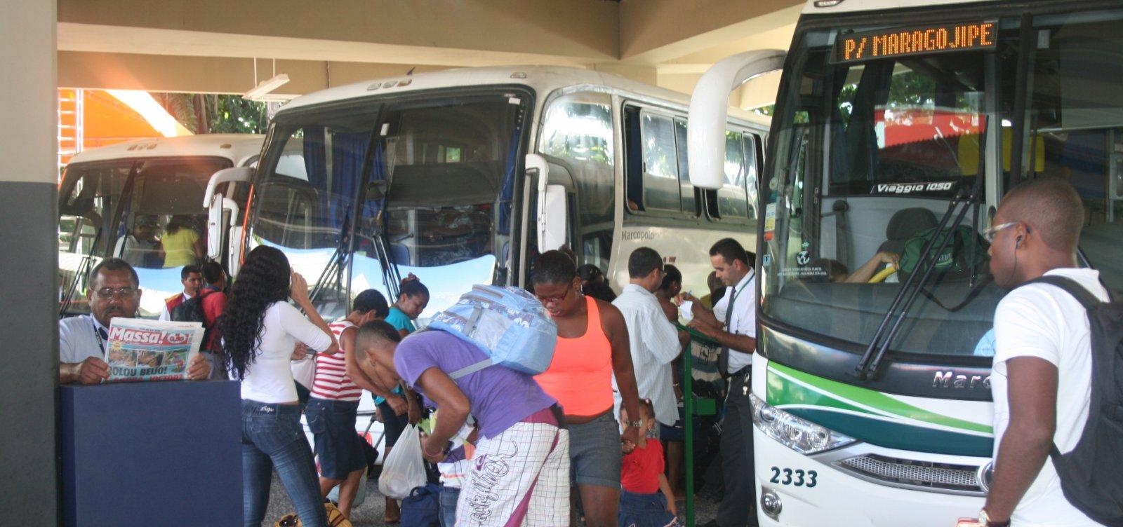 Tarifas de embarque nas rodoviárias de Salvador e Feira são reajustadas