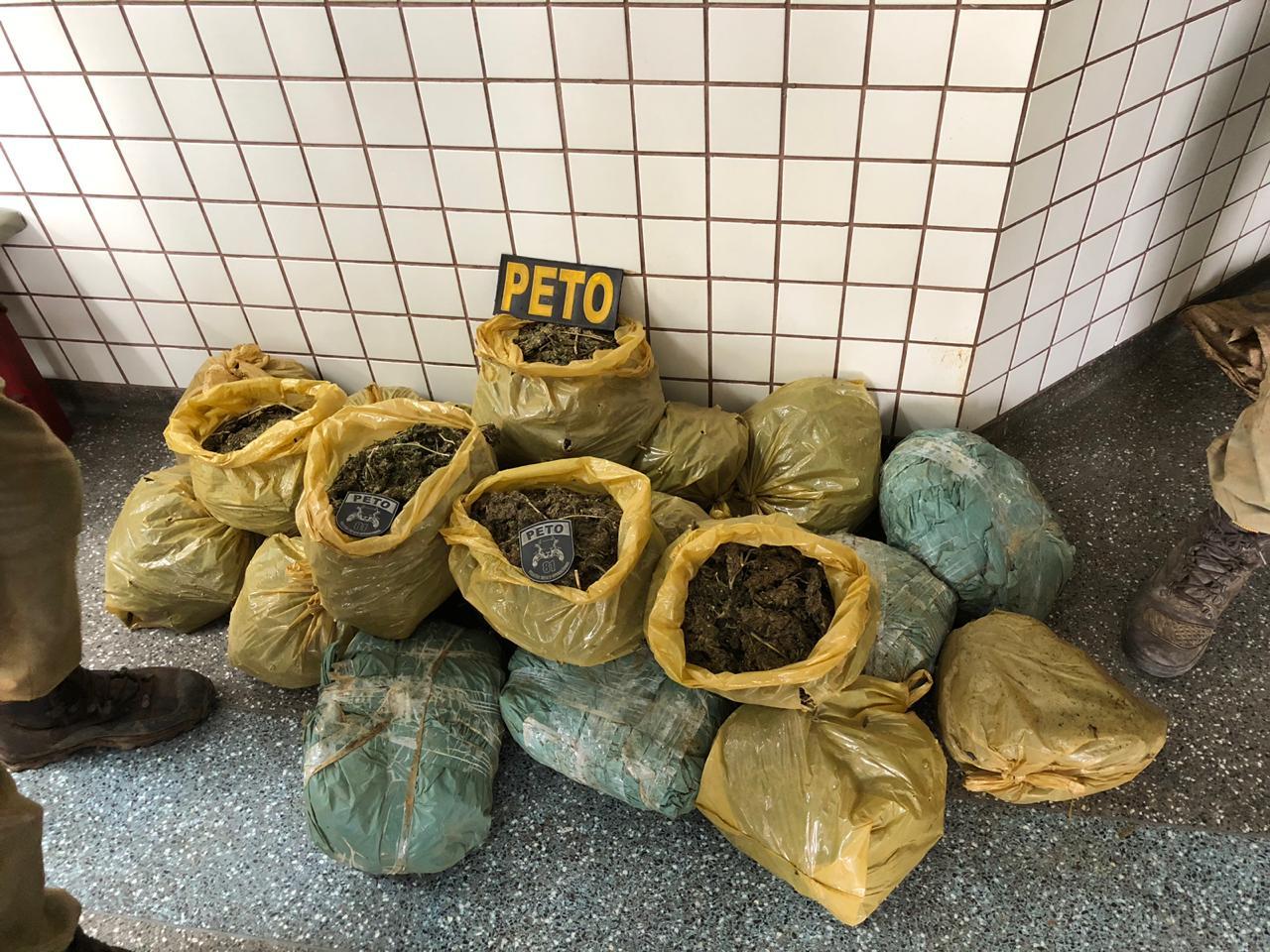 Trinta quilos de maconha são apreendidos em Lauro de Freitas