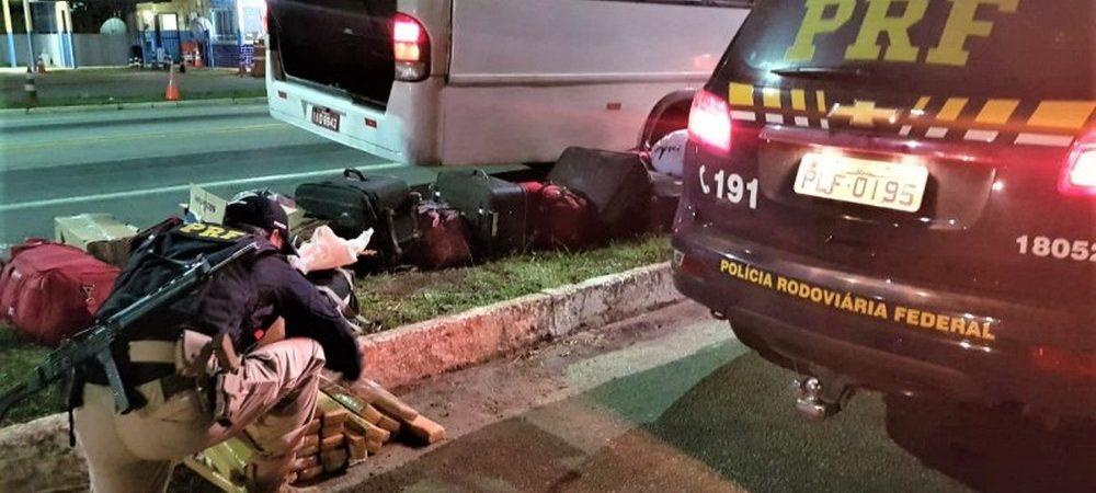 Homem é preso com 30 kg de maconha em micro-ônibus no sudoeste do estado