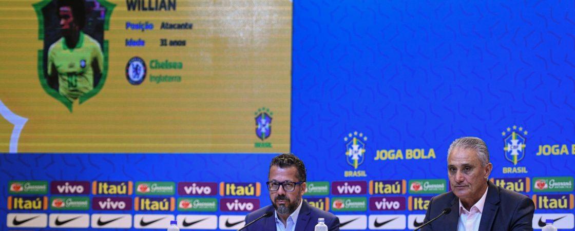 Sem jogadores de clubes brasileiros, Tite convoca Seleção para últimos amistosos da temporada