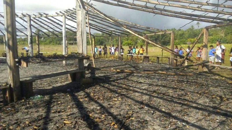 Oca usada para rituais indígenas é atingida por incêndio em Porto Seguro