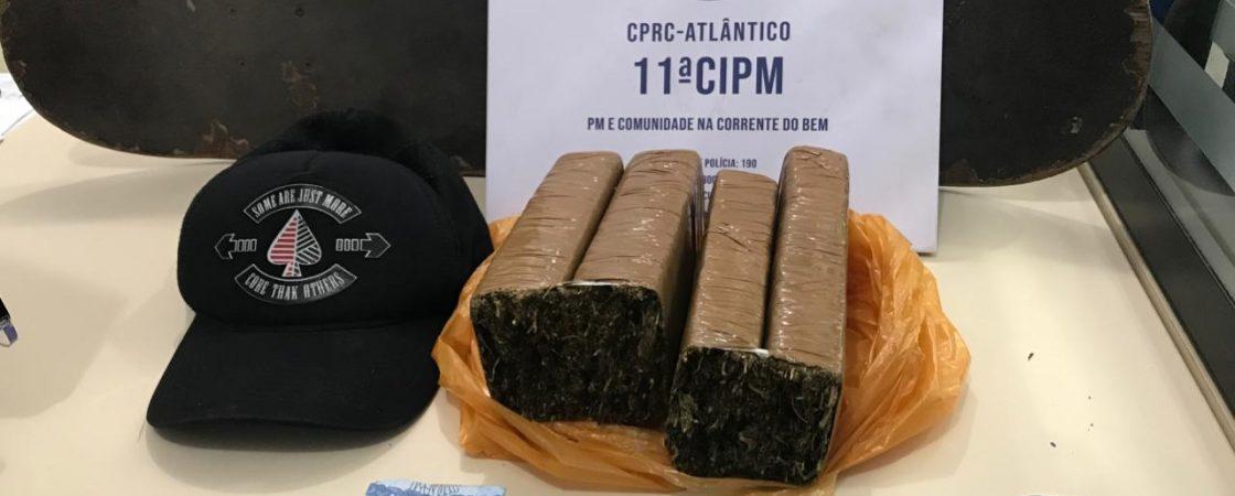 Salvador: homem é preso enquanto transportava tabletes de maconha para a Barra