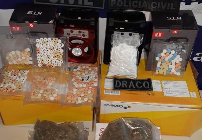 Drogas sintéticas são encontradas dentro de encomendas nos Correios, na Via Parafuso