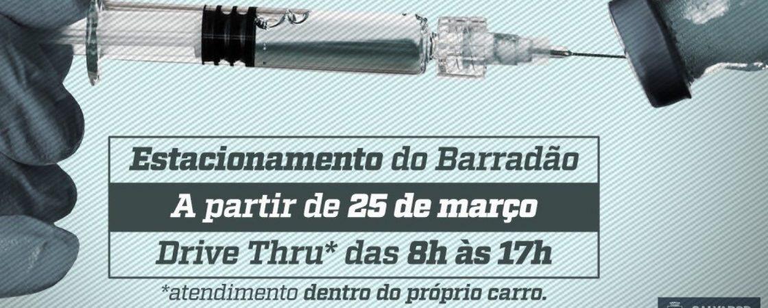 Barradão se torna, a partir de hoje, 25, um dos pontos de vacinação drive-thru contra H1N1 em Salvador