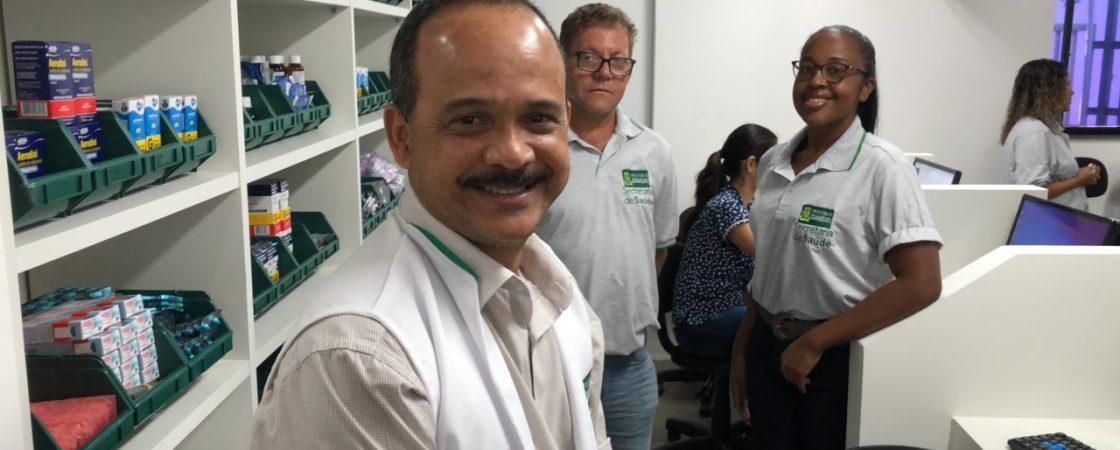 'A saúde está em primeiro lugar' destaca Elinaldo no dia da inauguração da Farmácia do Povo
