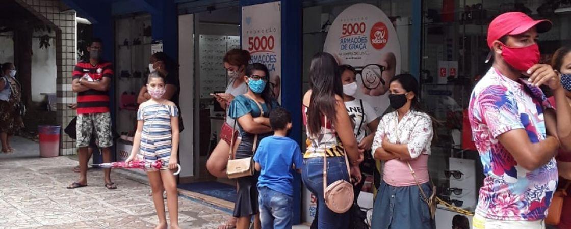 População reclama da dificuldade de sacar dinheiro na Caixa Econômica em Camaçari