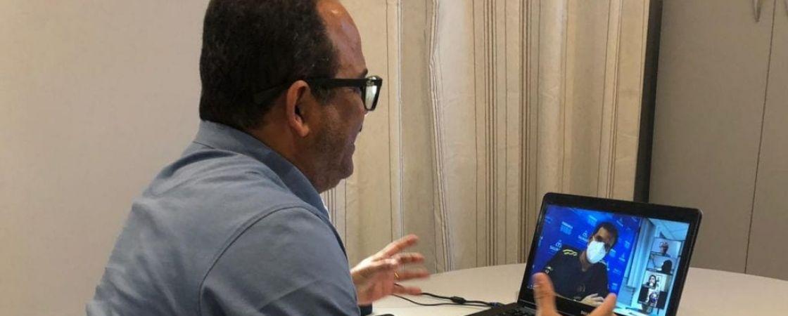Prefeito de Camaçari participa de reunião virtual com prefeitos da RMS, em avaliação a retomada do comércio